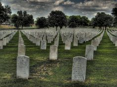 Jefferson Barracks Cemetery, St. Louis Missouri, USA ~ My ex husband is buried here