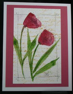 Watercolor Card by wildflowerhouse, via Flickr