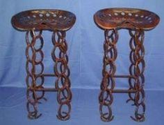 DIY HORSESHOE PROJECTS | Miller - Welding Projects - Idea Gallery - Horseshoe bar stool