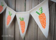 Easter banner carrots RTS Easter carrot by treslittlekings on Etsy