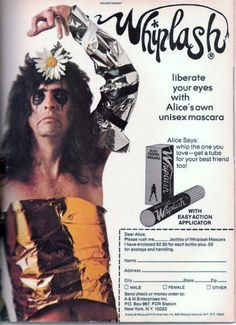 Liberate your eyes with Alice Cooper's own unisex mascara.