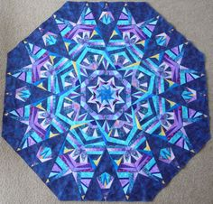 Beautiful paper pieced kaleidoscope
