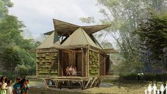 Emergency Houseboats: Bamboo Shelters Float on Oil Drums