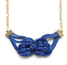 Knotted rope jewelry.  Found at Still Dottie, from June 17, 2010.
