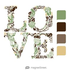 Sage, Chocolate, Latte, and Gold Wedding maybe too much brown