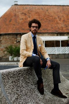 Business Attire with Some Color. from The Sartorialist blog.