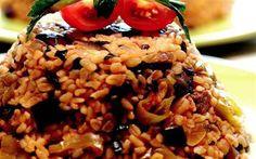 bulgur pilavi Patlıcanlı Biberli Bulgur Pilavı