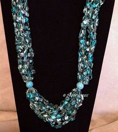 Trellis Necklace Gemstone Beads