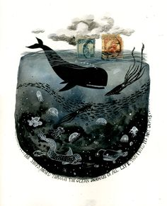 The ships moved through the ocean Unaware of all life that moved through its inky depths ~