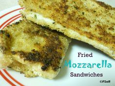 Fried Mozzarella Sandwiches   www.fantasticalsharing.com   #recipe