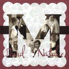 Monogram wedding photo