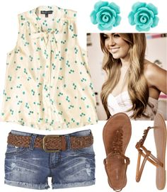 Touch of Turquoise, created by qtpiekelso on Polyvore