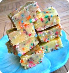 batter fudge-Sweet, savory, and a little bit salty, cake batter fudge ...
