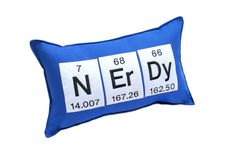 Nerdy Periodic Table Elements Pillow.