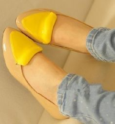 Candy color leather shoes!