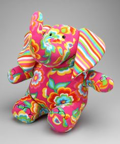 Sally #Elephant Plush Toy by #Beeposh on #zulily! We love this cuddly fleece friend!