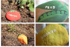 *** Vegetable  Garden  Rock Labels