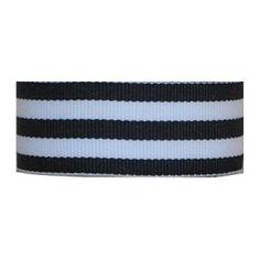 "Grosgrain Mono Stripe Ribbon 7/8"" 10 Yards, Navy"