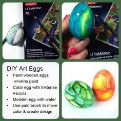 #DIY Art-Inspired Eggs #Easter
