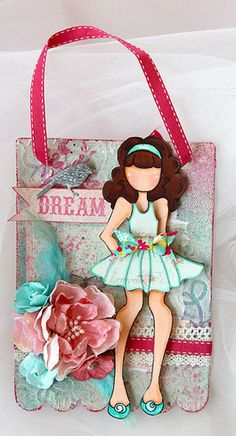 Canvas Wall Hanging - Prima Mixed Media Doll Stamp : Gallery : A Cherry On Top