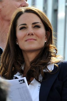 Kate at the Olympics with Prince William.