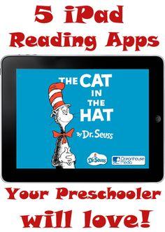 iPad Reading Apps for your preschooler.