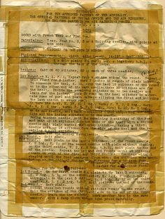 Found document WWII- Knitting Instructions fo His Majesty's Forces Socks