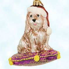 Charlie terrier puppy dog in santa hat 2001 christmas ornament ebay
