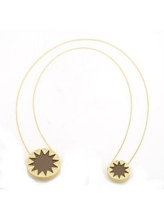 House of Harlow 1960 Double Sunburst Pave Necklace in Khaki by Swank Boutique Online