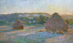Grainstacks at the End of Summer, Evening Effect, 1891, Claude Monet