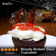 "Bloody Broken Glass Cupcakes | ""This is an awesome idea and so much easier than it looks."""
