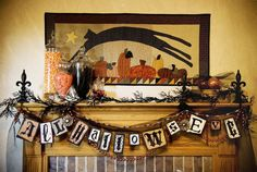 Halloween garland and fireplace decorations - 36 Ideas for Your Home