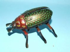 4: LEHMANN CRAWLING BEETLE TIN WIND UP TOY #431 & BOX : Lot 4