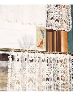 Crochet for the Home - Crochet Decor Patterns - Tulip Lace Curtain and Valance