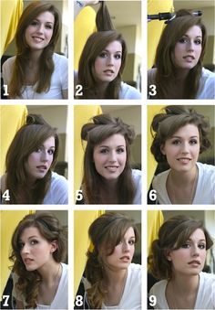 Head band updo how to