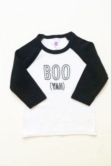 Not-Scary Halloween Tee (reads BOO yah on it) - I love this shirt!