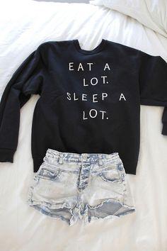 short, fashion sets, life motto, sweater, college life