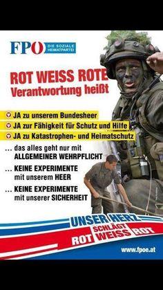 #Wehrpflicht : JA #fpoe #hcstrache #Austria #Wien