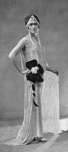 ~Evening gown by Doucet, photo by Henri Manuel, Les Modes June 1923~
