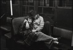 A couple on the subway by Stanley Kubrick 1946