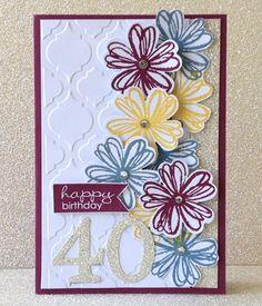 Stampin' Up! Flower Shop Bundle: 40th Birthday Card