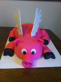 flying pig cake