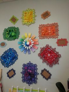 The Art Ninja: Color wheel collections art lessons, student, art ninja, empty frames, color wheels, art room, children's art ideas, rainbow, recycled art