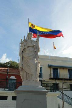 Representación de Venezuela como parte de la Gran Colombia, Plaza Bolívar, Ciudad Bolívar, Venezuela