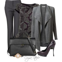 """Autumn Plum"" by orysa on Polyvore"