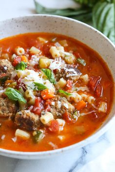 This hearty soup is