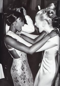 Naomi Campbell & Karen Mulder, early 90s