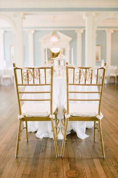 Southern wedding - monogram chair decor