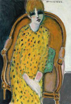 Jean-Pierre Cassigneul - Jeune fille assise