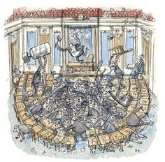 """In today's Daily Comment, George Packer looks at the decaying Senate and considers whether filibuster reform can save it: """"The Senate is in a prolonged, self-induced coma. It does not produce creative legislation. It does not inspire important debate. It is not responsive to key national problems. Its pretense of institutional dignity is so battered that junior senators openly mock it."""" Continue reading: http://nyr.kr/UrSAlC"""